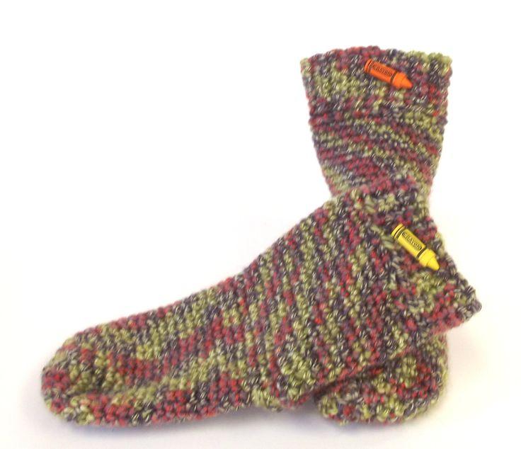 Child Slipper Socks, Toddler Booties, Wool Slippers, Cozy Kids Slippers, Winter Socks, Gender Neutral Slippers by SewDarnComfy on Etsy