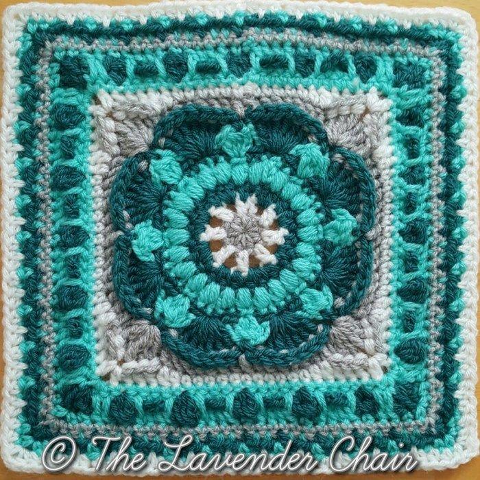 Sea Flower Mandala Crochet Square Pattern