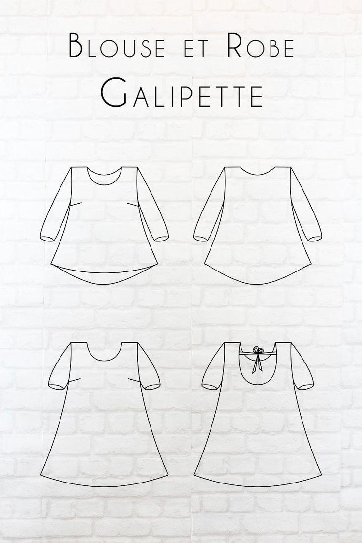 Inspirée d'une virée au galop, Galipette a été créée pour être un modèle facile à vivre et à porter. Sous forme de robe ou de blouse, elle vous permettra de nombreuses versions : décolleté profond dans le dos avec ou sans liens, décolleté classique dans le dos, manches courtes, manches longues et dosplus long sur les fesses pour la blouse. Il n'y a plus qu'à choisir la Galipettequi vous conviendra le mieux !     Tailles : 2 pochettes proposées : - du 34 au 46 (Guide des tailles) ...
