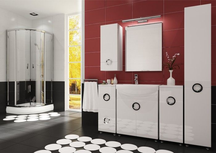 Palermo koupelnová sestava nabízí přehledný úložný prostor pro vaše hygienické potřeby. Její moderní charakter vynikne v každé koupelně. Přední strana i boky...
