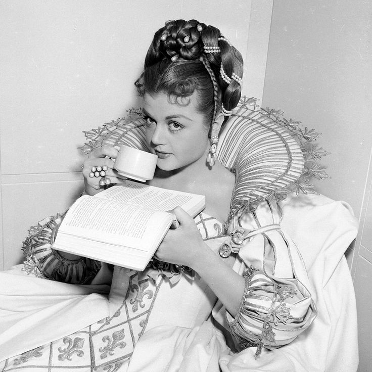 Angela Lansbury ,here on the set of THE THREE MUSKETEERS ('48)