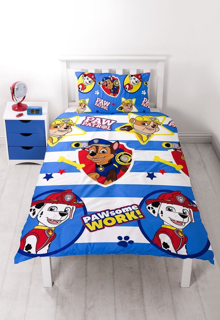 paw patrol pawsome rotary print bettbezug set polyester mehrfarbig single k che. Black Bedroom Furniture Sets. Home Design Ideas