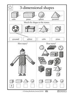25 best ideas about 3d shapes worksheets on pinterest 3d shapes kindergarten solid shapes. Black Bedroom Furniture Sets. Home Design Ideas