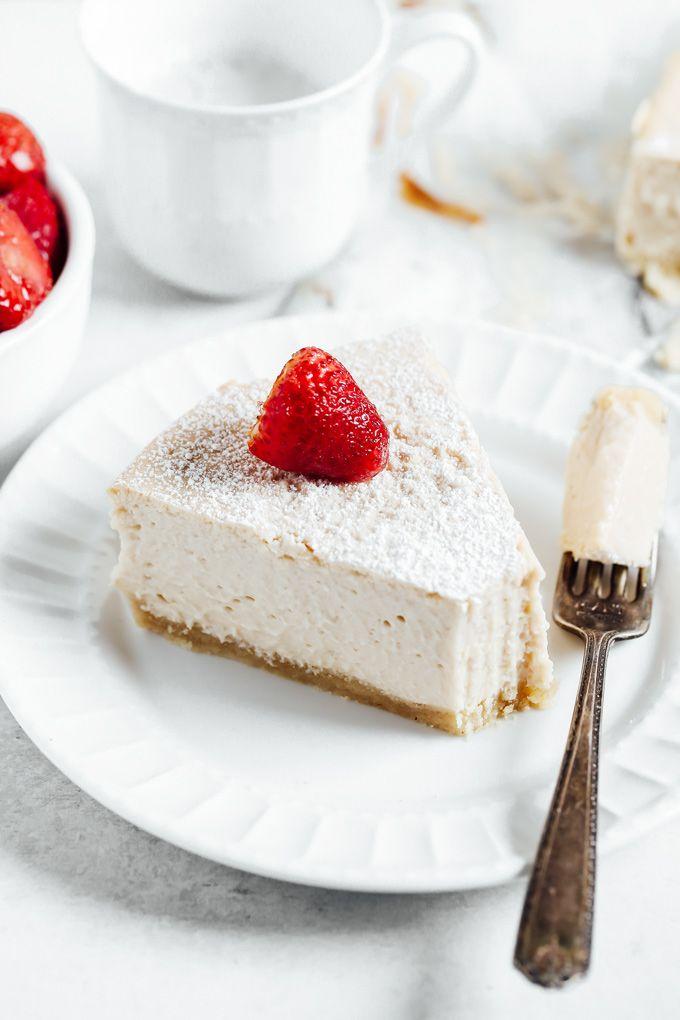 Vegan Keto Classic Style Cheesecake Recipe In 2020 Cheesecake Almond Recipes Vegan Keto
