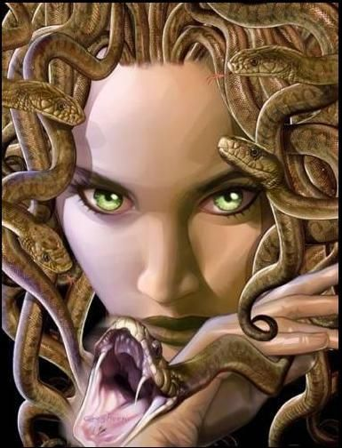 I like the snakes on this one, not the face though.