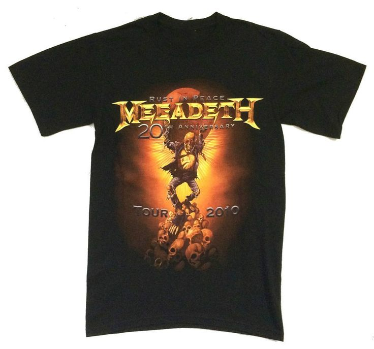 >> Click to Buy << Megadeth Vic's World Rust In Peace 20th Anniv 2010 Tour Los Angeles T Shirt New #Affiliate