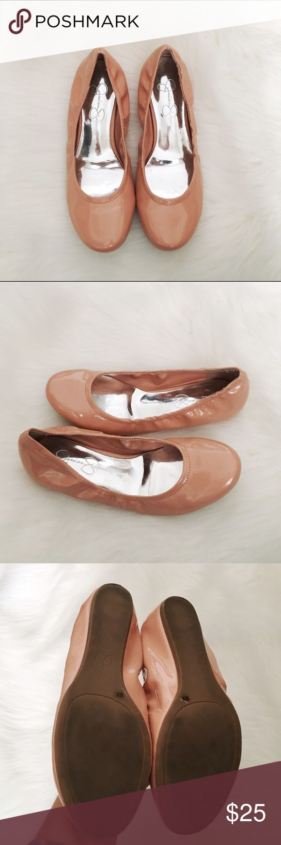 Jessica Simpson Angelique Light Pink Patent Flats Jessica Simpson Angelique patent ballet flats in light pink. Worn twice, great condition. No box. Super comfy. Size 6. No modeling/trades. Jessica Simpson Shoes Flats & Loafers
