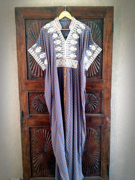 Chiffon kaftan long caftan maxi dress by ArabianThreads on Etsy, $180.00
