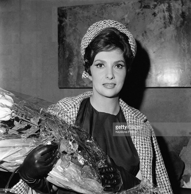 Actress Gina Lollobrigida Arrives At Paris Orly Airport, in Orly, France, on October 5, 1962.