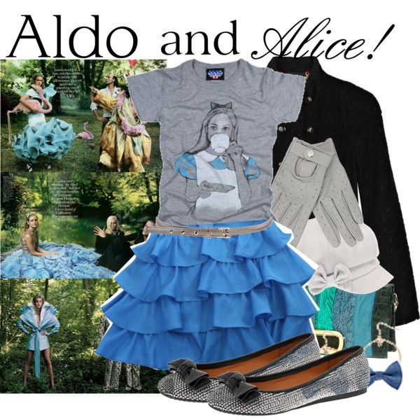 Aldo and Alice by theprettychef on Polyvore featuring mode, Junk Food Clothing, Marc by Marc Jacobs, mbyM, Forever 21, ANNIE and Disney