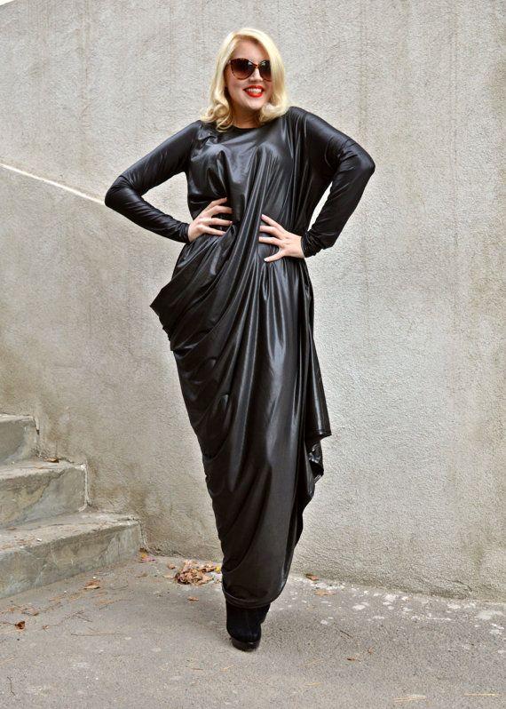 Black Punto Roma Kaftan / Extravagant Black Kaftan / Elegant