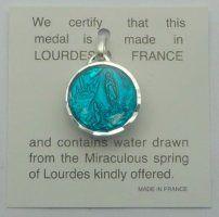 Lourdes Water Pendant.