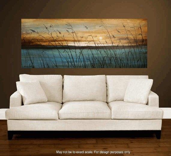 arte pintura arte pintura de paisaje turquesa por jolinaanthony