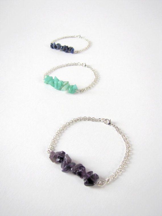 Bracelet pierres semi-précieuses par MysteriousCircuss sur Etsy