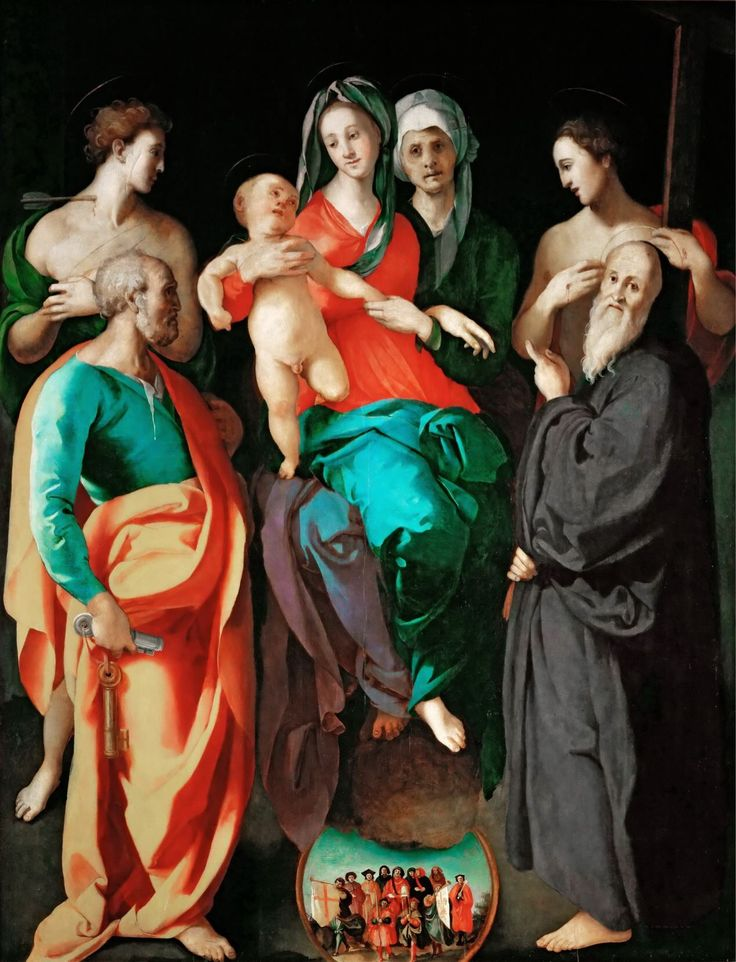 Pontormo - Virgin with Saint Anne and Four Saints