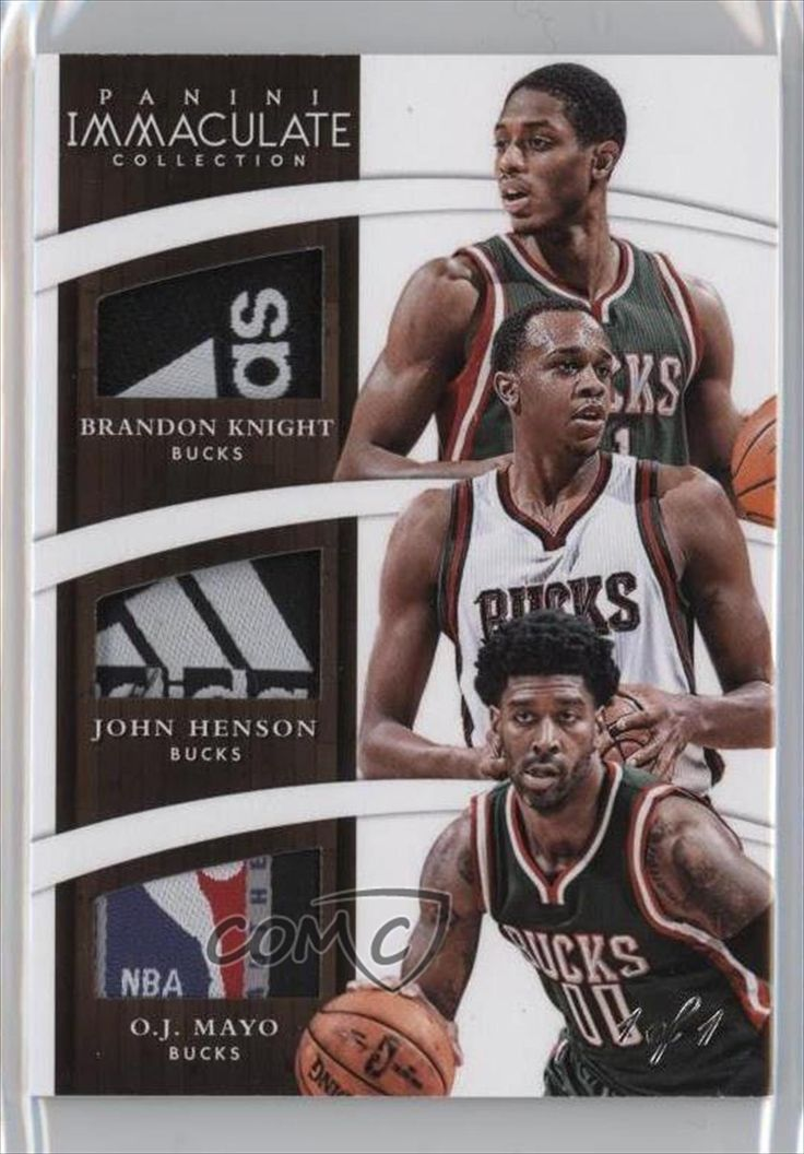 John Henson; O.J. Mayo; Brandon Knight #1/1 (Basketball Card) 2014-15 Panini Immaculate Collection Trio Relics Tags #T-MIL -- Awesome products selected by Anna Churchill