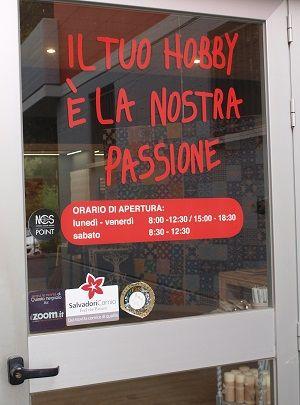 Il tuo hobby è la nostra passione!!  Siamo a Rivalta a Reggio Emilia: vieni a trovarci per vedere tutti i materiali ed i colori dal vivo. Oppure visita il sito!