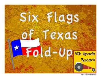 Six Flags of Texas Fold-Up and Reflection Questions $