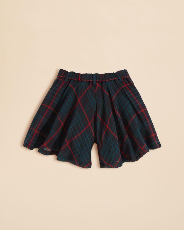 Ralph Lauren Girls' Plaid Culotte Pants - Sizes 2-6X