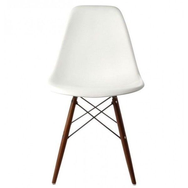 Contemporary Retro Molded Eames Style White Accent Plastic Dining... ($380) ❤ liked on Polyvore featuring home, furniture, chairs, dining chairs, plastic kitchen chairs, plastic chairs, molded plastic dining chairs, colored chairs and patterned chairs
