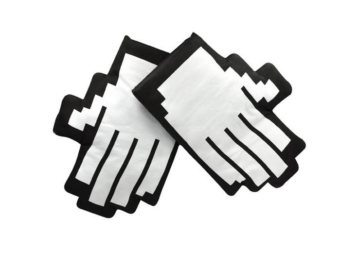 Pikselowe rękawice kuchenne / Pixel  oven mitts.