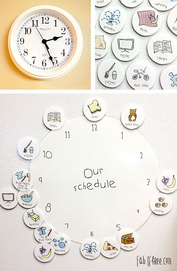 Printable Our Schedule Clock for Kids