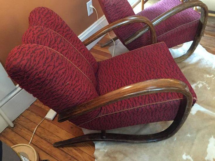 "Pair of Jindrich Halabala ""H269"" Chairs 4"