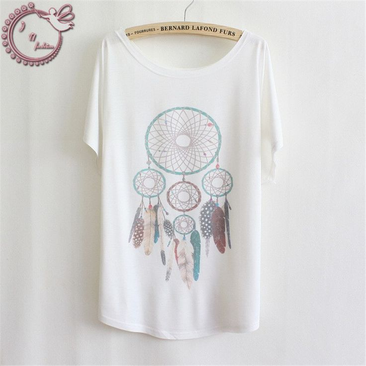 2017 New T Shirt Women stylish Cotton Batwing Short Sleeve Tees Women White  Individuality Printed Series T-Shirts Tops T-Shirt