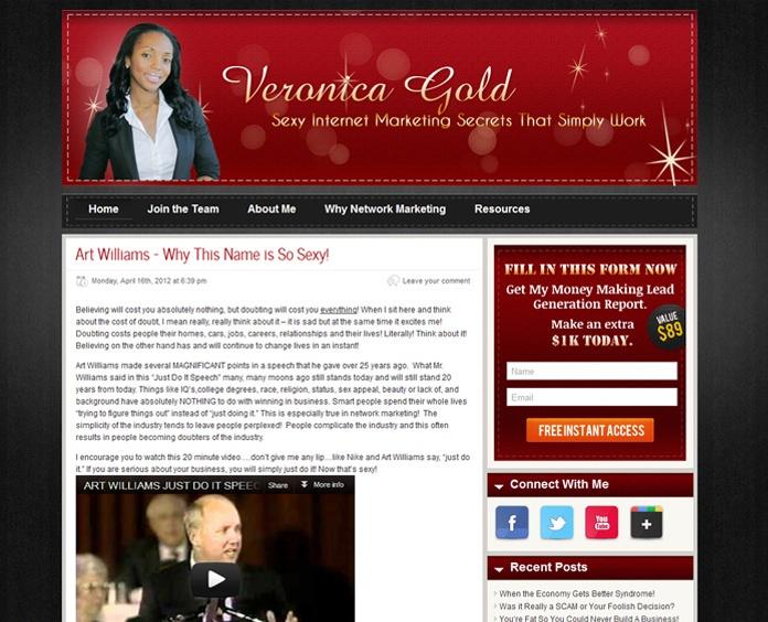 #Blogging #website for Veronica Gold