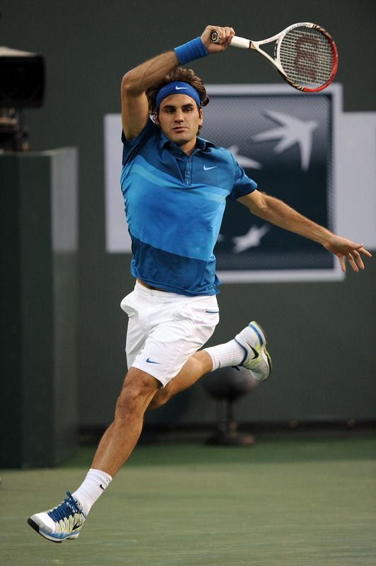 The Maestro in beautiful form at Indian Wells