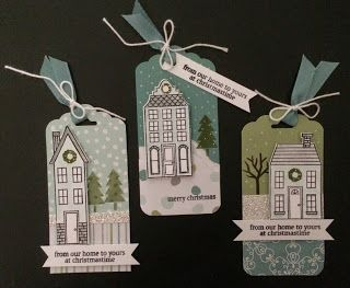by Kadie: Holiday Home & its framelits, All is Calm dsp, Scalloped Tag Topper Punch, & more. All supplies from Stampin' Up!