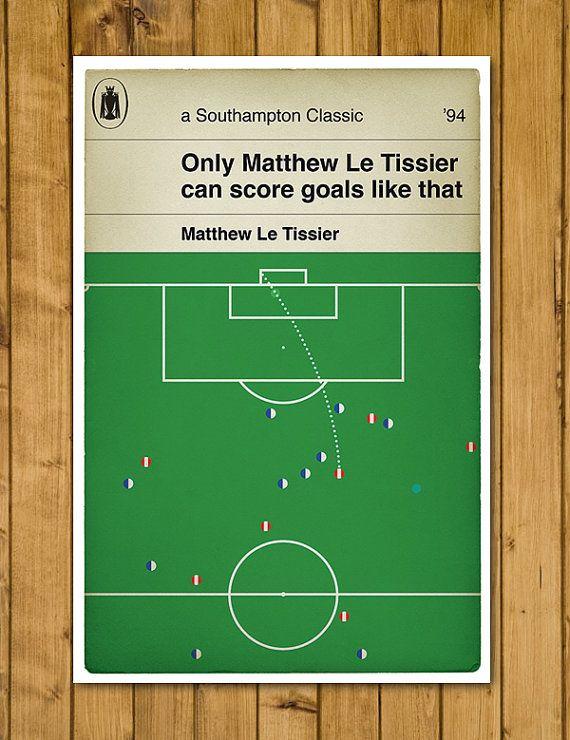 Southampton FC - Matthew Le Tissier - Le God Poster by headfuzzbygrimboid, $15.00