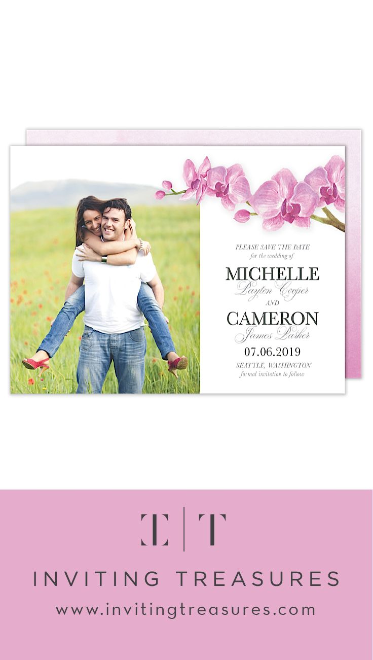Pink floral save the dates | floral wedding save the dates | simple and elegant save the date designs