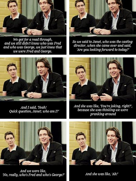 James and Oliver Phelps have trouble figuring out what exact characters they are supposed to be playing.