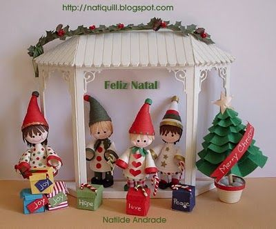 Duendes/Elves by Nati  http://natiquill.blogspot.com/2009/12/duendes.html
