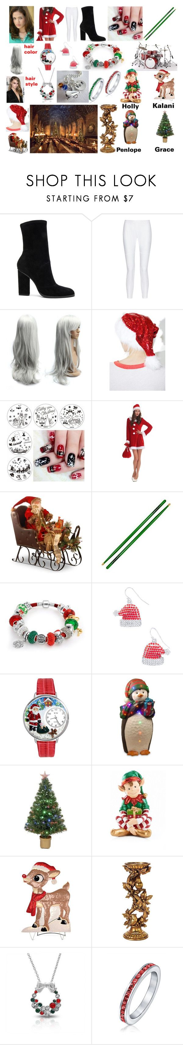 """Vivian Martin band christmas outfit 1st year"" by natilepotter3769 ❤ liked on Polyvore featuring Nicole, Alexander Wang, 10 Crosby Derek Lam, Roma, National Tree Company, Bling Jewelry, Carole, Whimsical Watches, Merske and Improvements"