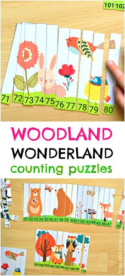 These counting puzzles take less than five minutes to prepare! It is an adorable printable activity, that'll help kids understand number sequencing in a fun way!