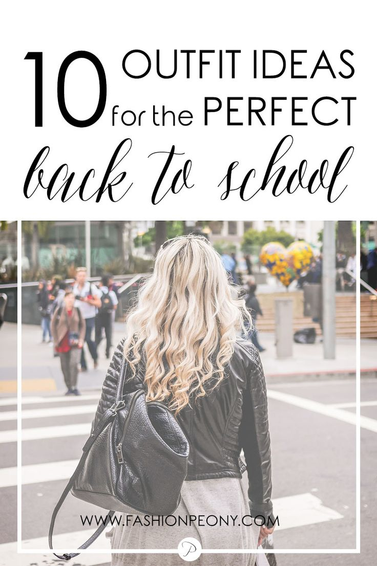 10 comfy and stylish ideas for the perfect back to school outfit! | The fashion…
