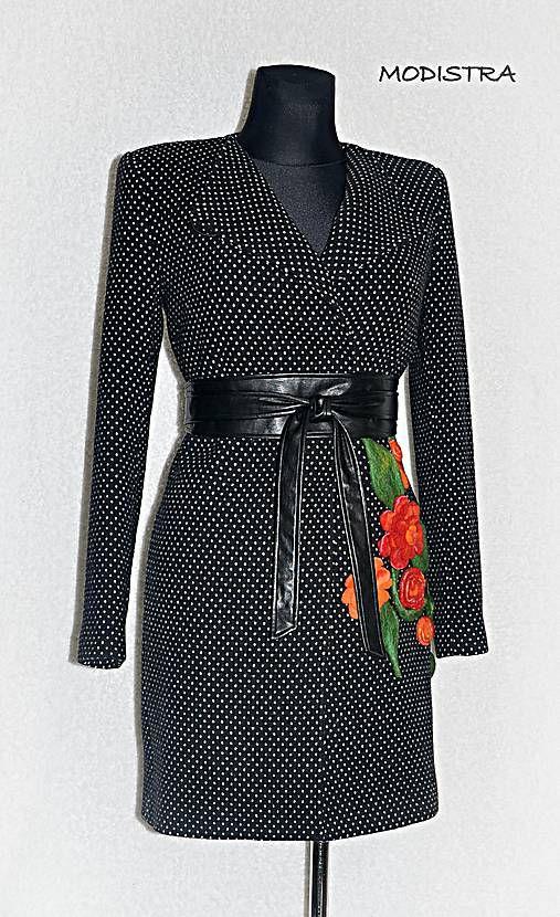 Bodkovaný kabát-ZĽAVA 20%!!!   Angeli - SAShE.sk - Handmade Kabáty ... fbafd29d27f