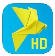 Leer stap voor stap origami vogels vouwen. Geschikt voor iPad