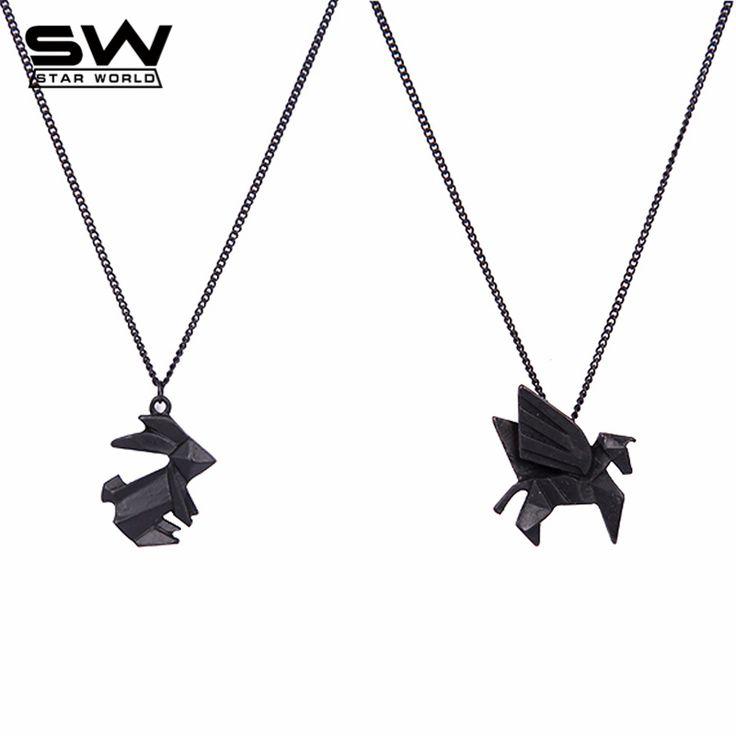 Origami animal pendants