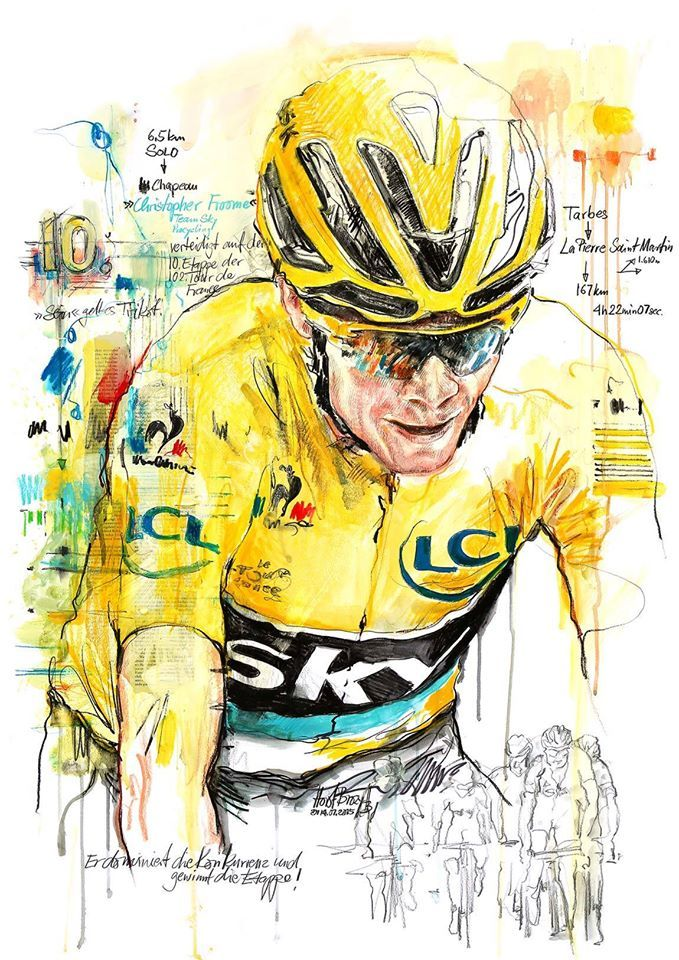Chris Froome by Horst Brozy