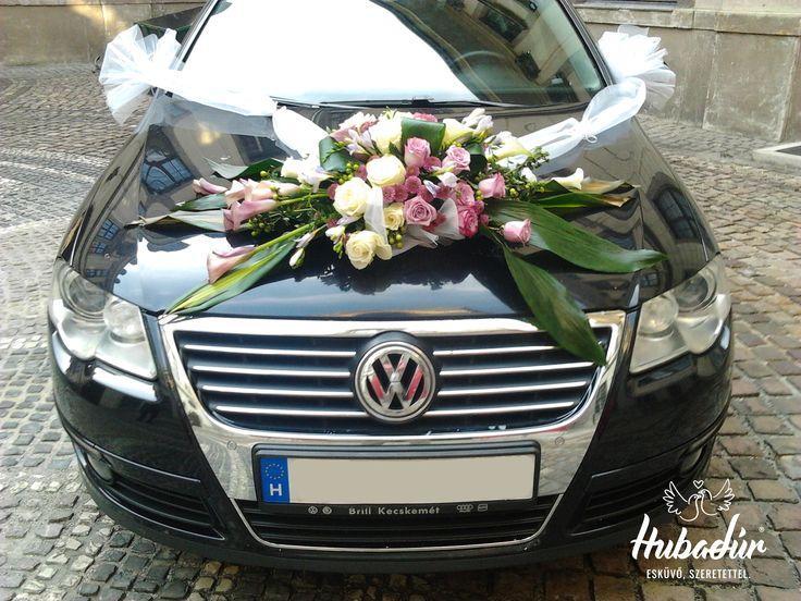 Esküvői autó dekoráció
