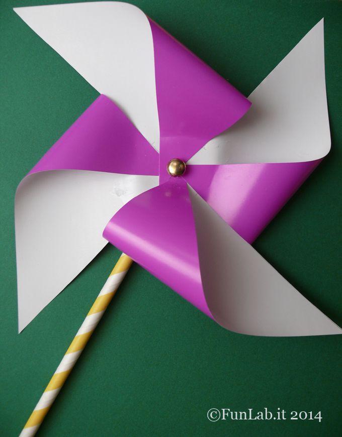 Tutorial per idee per le feste di compleanno: fate fare una girandola di origami. Un tutorial anche per chi vuole realizzarla per altri motivi!