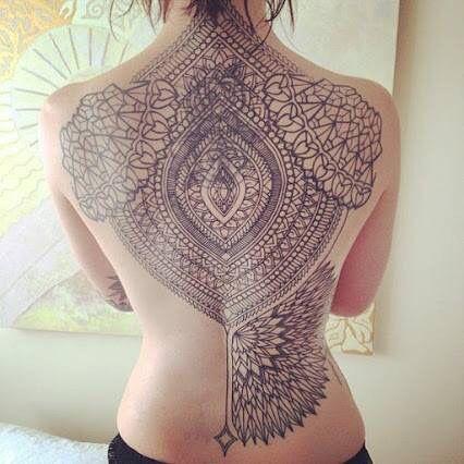 Anne Xie Back tattoo