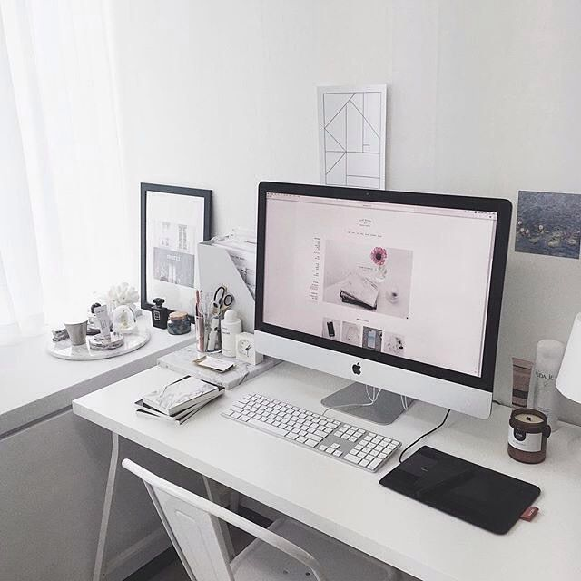 1000 ideas about desk inspiration on pinterest room inspiration bureau design and small room - Computer desk for imac inch ...