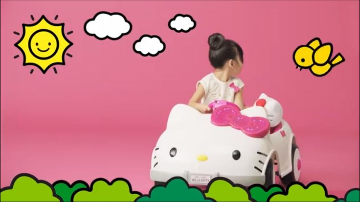 Cruise in a Hello Kitty ride (☝︎ ՞ਊ ՞)☝︎available now at Toys R Us