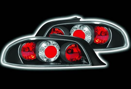 Peugeot 306 1993-2002 Cabriolet Black Lexus Style Rear Tail Lights