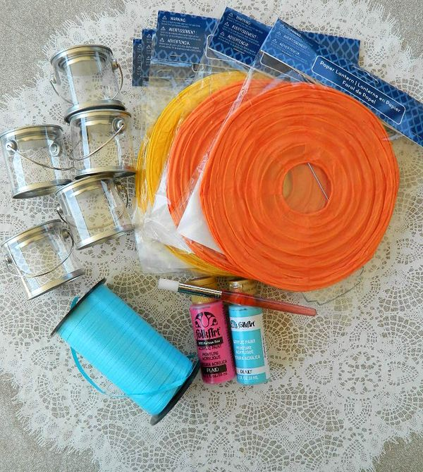 how to create hot air balloon centerpices | Paper lanterns make it so easy! Just assemble the two parts together ...
