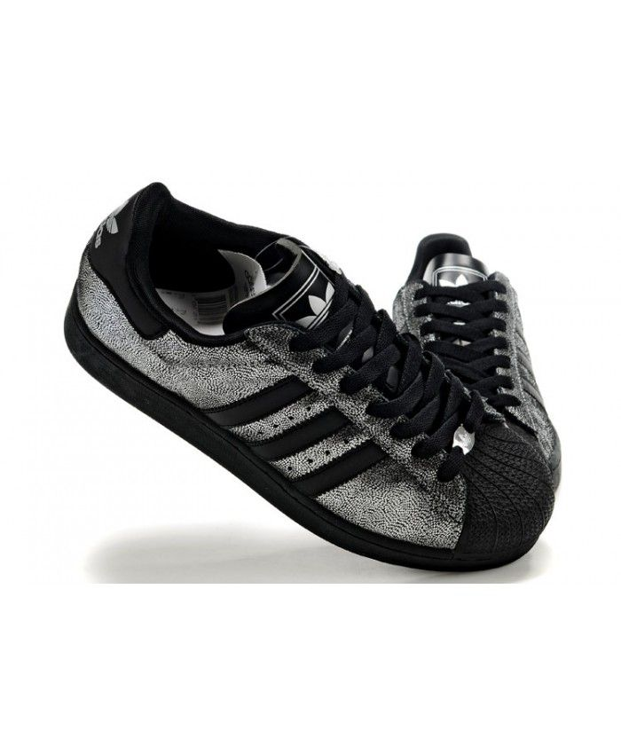 f6d8a6634db11 Adidas Superstar Mens Shoes In Sliver And Black On Sale